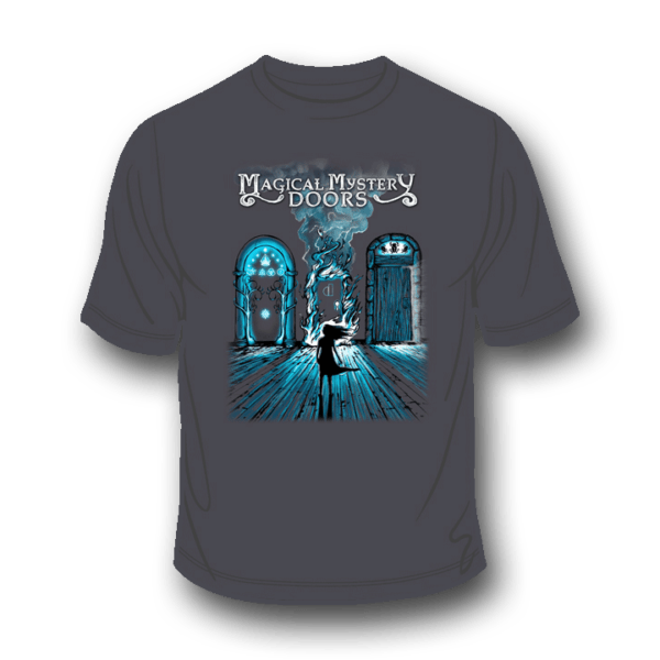 Magical Mystery Doors Charcoal T-Shirt 2
