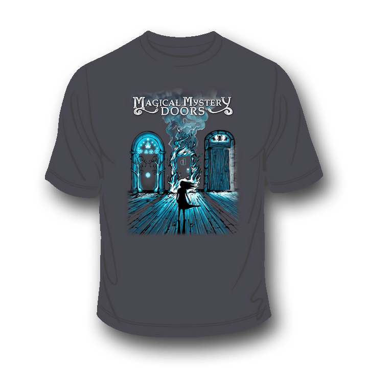 Magical Mystery Doors Charcoal T-Shirt 1